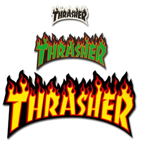 THRASHER Наклейка Thrasher Flame  L thrasher бейсболка thrasher skategoat mesh black grey