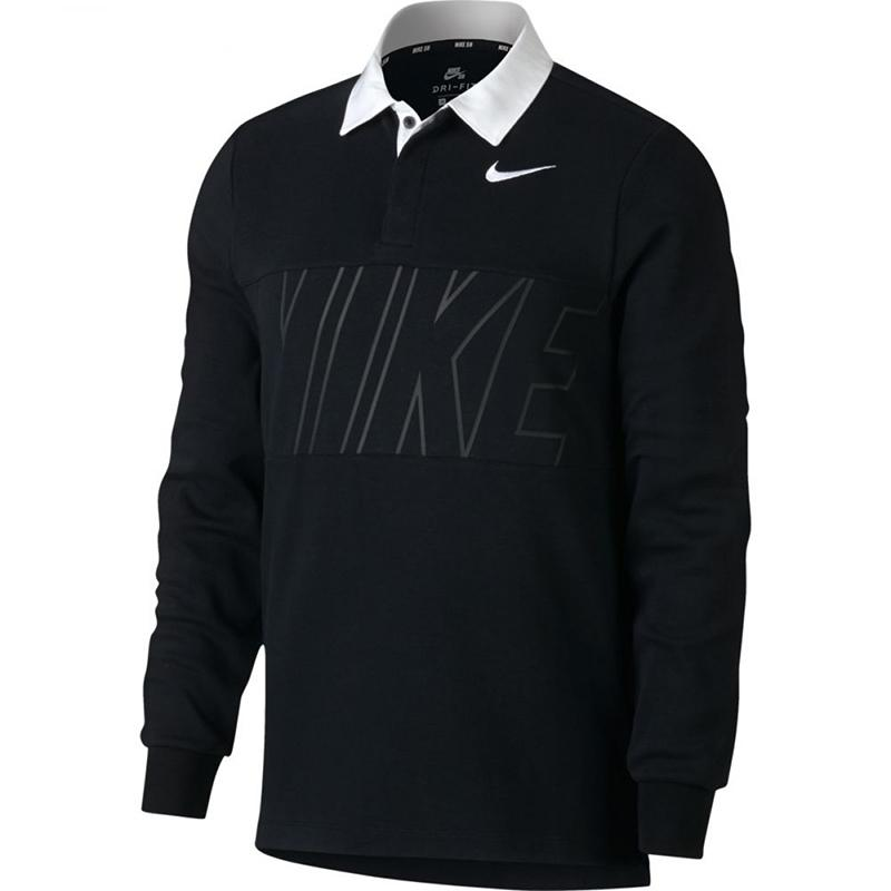 Nike SB Рубашка-поло Nike SB Dry Top Polo Black/White S nike sb футболка nike sb dry tee df skyscrpr s