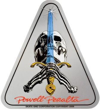 Наклейка Powell Peralta Skull and Sword