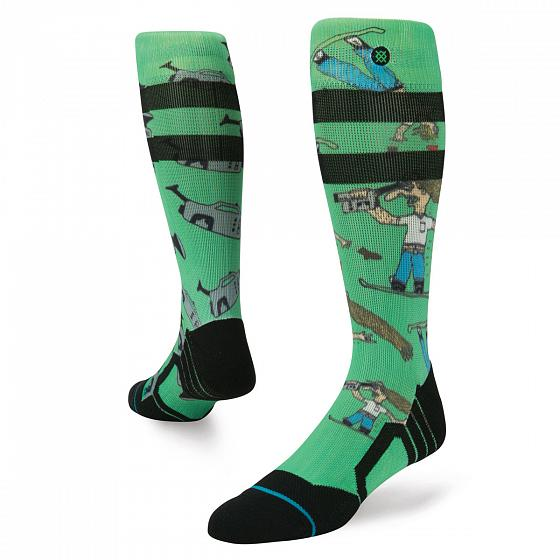 Stance Носки сноубордические Stance Snow Dad Cam Green L inov 8 носки all terrain sock mid l teal pink