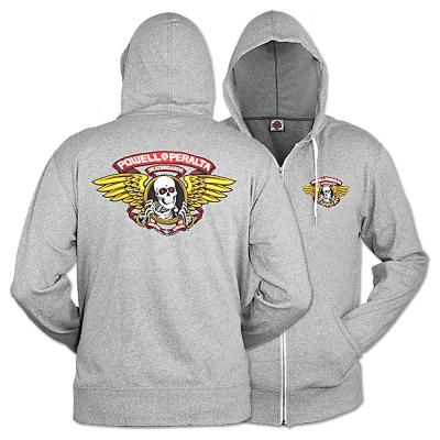Толстовка Powell Peralta Powell Peralta Winged Ripper Terry Salt&Pepper S от Boardshop-1