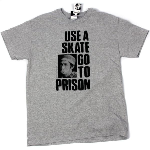 Футболка USE A SKATE GO TO PRISON-NEW (S, Grey, , )