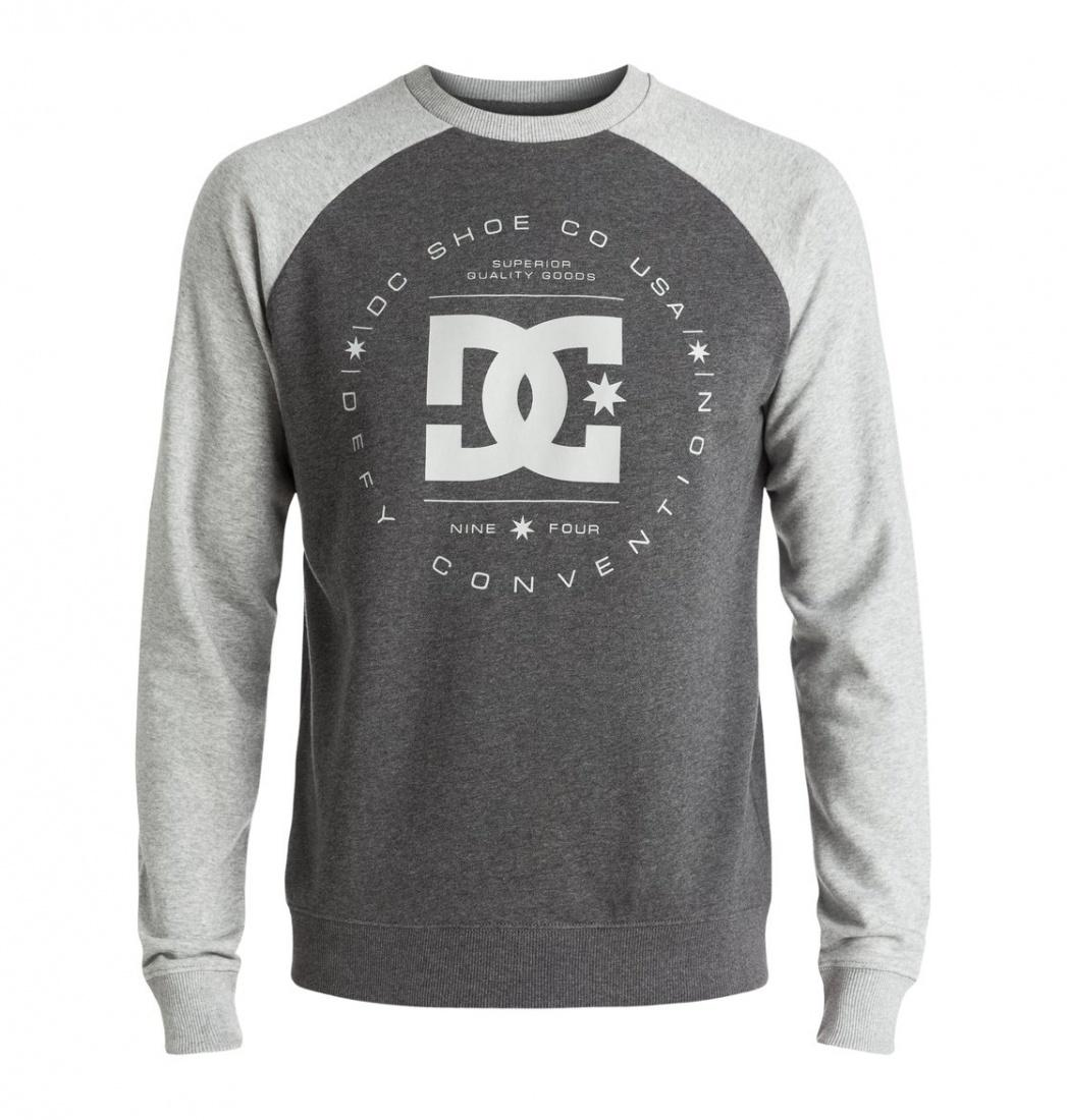 DC SHOES ДЖЕМПЕР DC REBUILT RAGLAN M OTLR XSSS МУЖСКОЙ GREY HEATHER/CHARCOAL HEATHER L рубашка в клетку dc woodale deep dyed heather grey