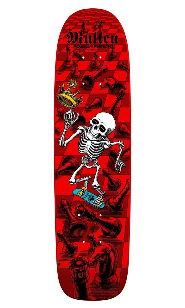 Powell Peralta Дека для скейтборда Powell Peralta BONES BRIGADE Rodney Mullen RED One size шапка quiksilver brigade beanie ketchup red
