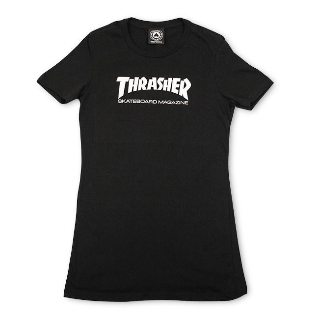 Футболка THRASHER Girls Thrasher Mag Logo Short Sleeve Black L от Boardshop-1