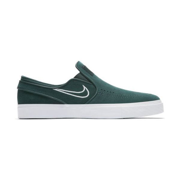 Nike SB Слипоны Nike SB Zoom Stefan Janoski Slip Deep Jungle/Grey White US 8.5 кеды кроссовки низкие nike zoom stefan janoski prem txt black white green glow