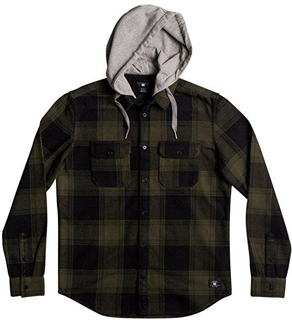 DC SHOES Рубашка DC shoes Runnel Flannel DARK OLIVE, , FW17 XL dc shoes рубашка dc shoes marsha flannel washed indigo fw17 m