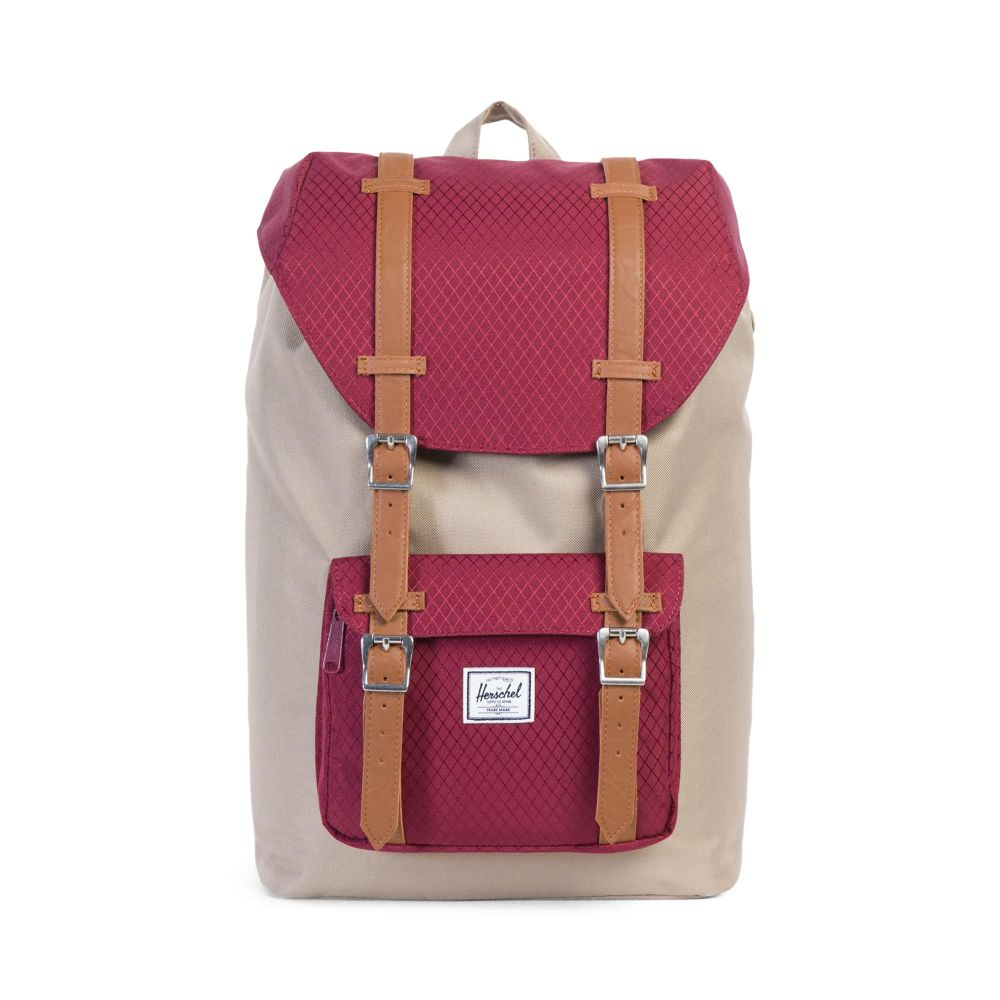 Herschel Рюкзак Herschel Little America Mid-Volume Brindle/Windsor Wine/Tan Synthetic Leather One size стоимость