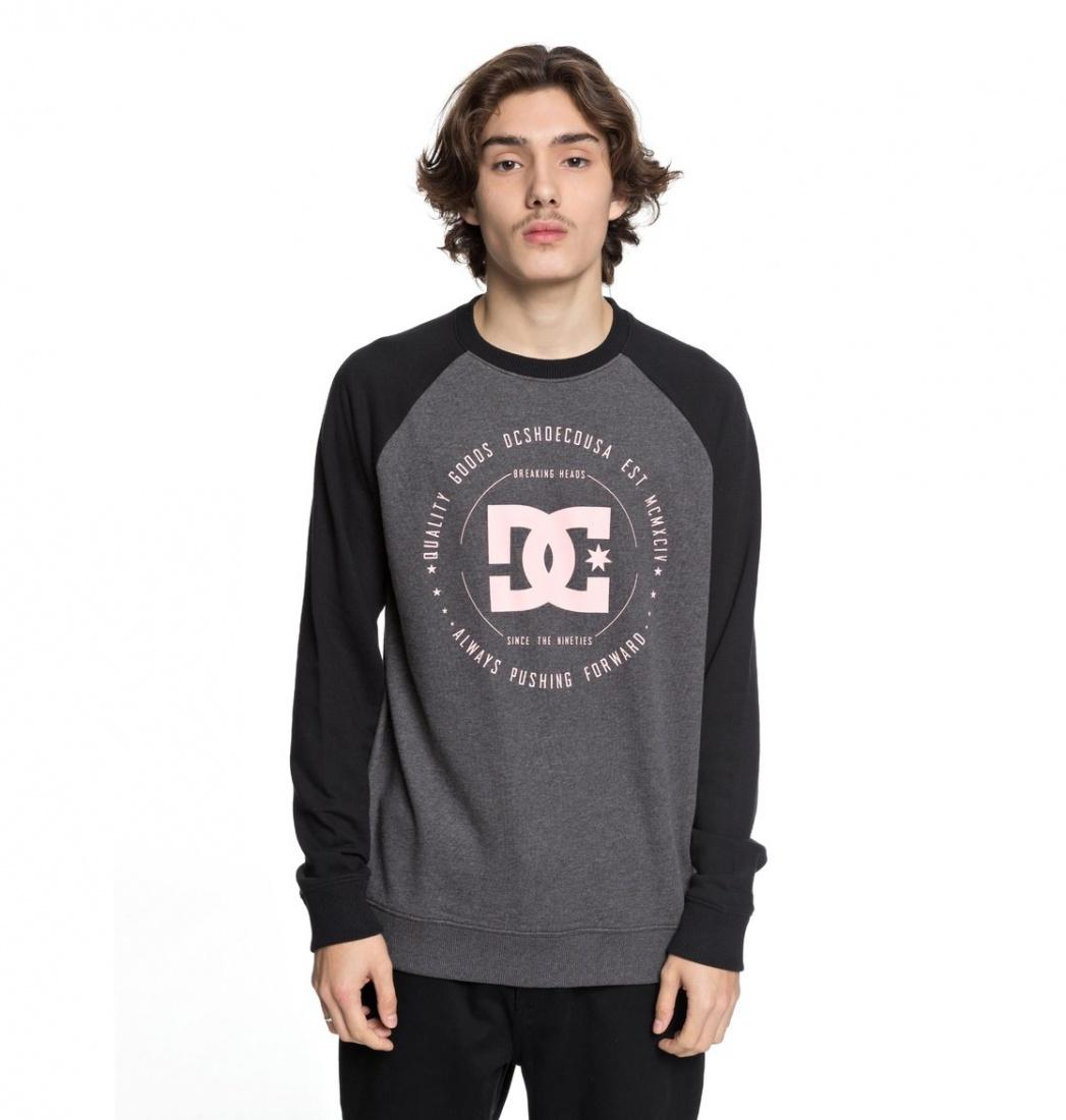 DC SHOES Свитшот DC shoes Rebuilt BLACK/CHARCOAL HEATHER XL dc shoes свитшот dc shoes rebuilt campanula grey heather xl