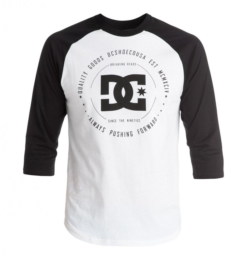 DC SHOES Лонгслив DC shoes Rebuilt 3/4 Raglan SNOW WHITE, , FW17 M dc shoes кеды dc heathrow se 11
