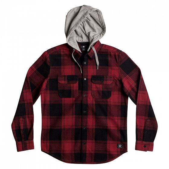 DC SHOES Рубашка DC shoes Runnel Flannel RIO RED, , FW17 L dc shoes рубашка dc shoes marsha flannel washed indigo fw17 m
