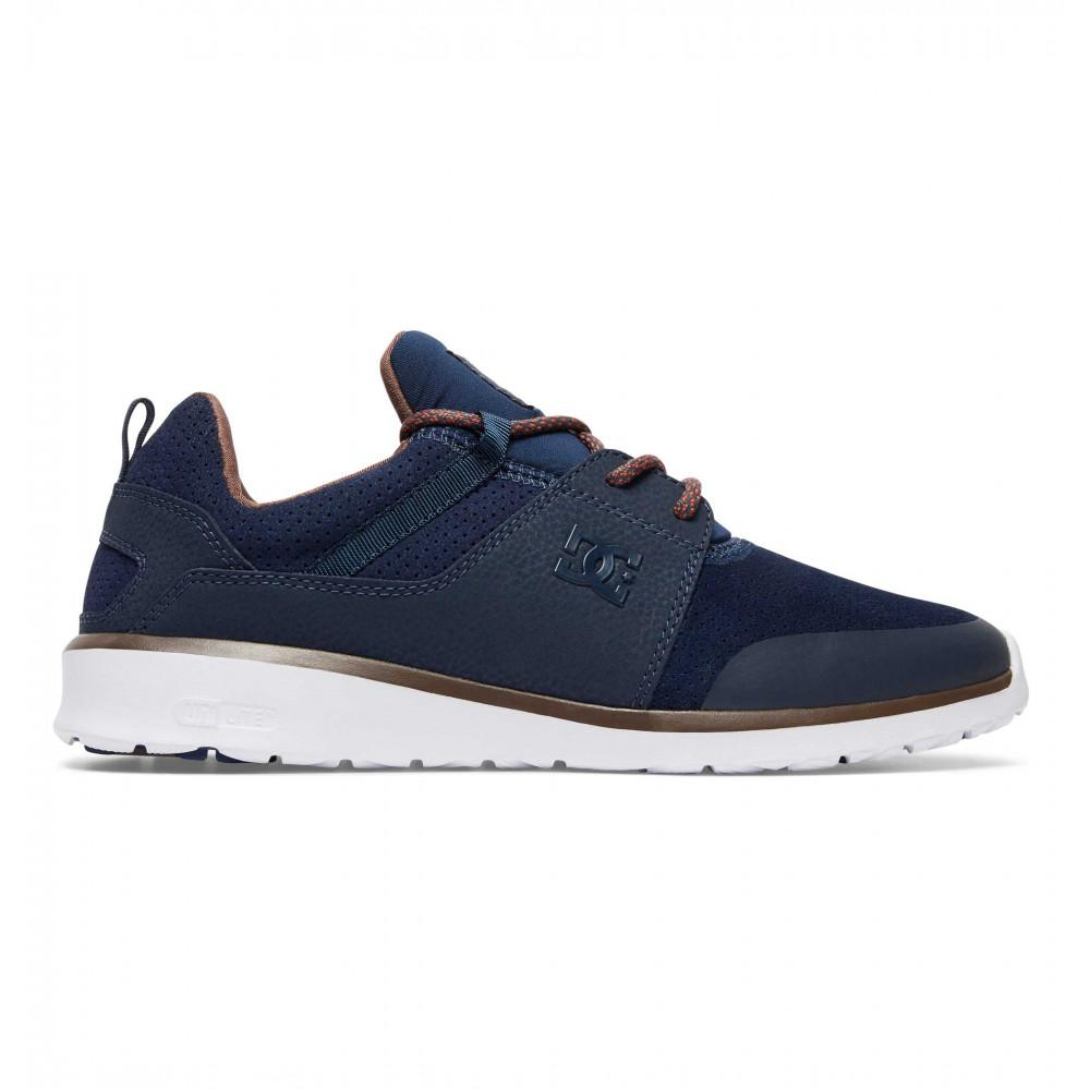 DC SHOES Кроссовки DC shoes Heathrow Presti NAVY/DK CHOCOLATE 9.5 кроссовки детские dc heathrow se green grey white