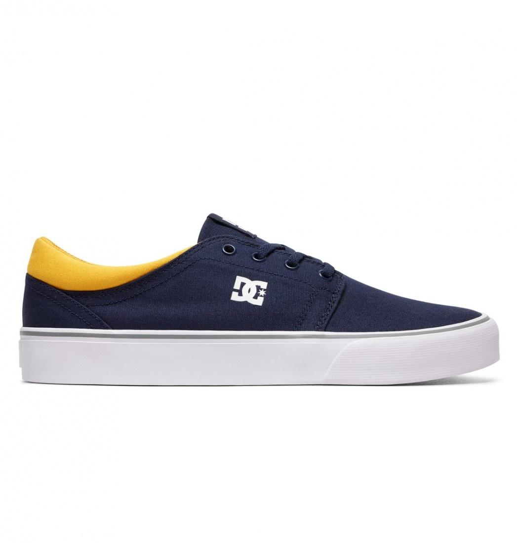 DC SHOES Кеды DC shoes Trase TX NAVY/YELLOW US 8 dc shoes кеды dc shoes tonik tx red 11