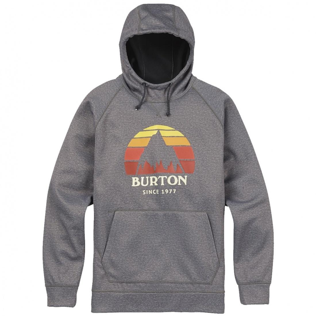 Burton ТОЛСТОВКА Burton BOYS CROWN BND PO MONUMENT HEATHER XS burton футболка burton lgo horizntl heather grey
