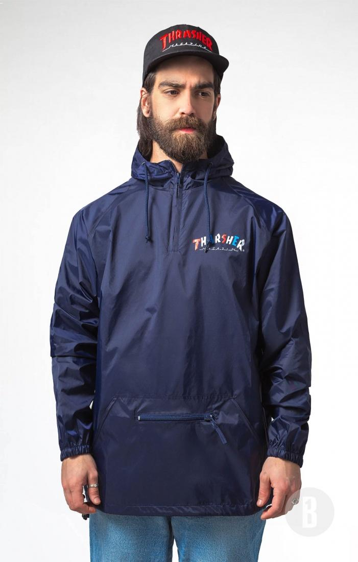 THRASHER Анорак Thrasher Knock-Off Anorak Hoody Navy/Blue XL смартфон micromax canvas juice 4 q465 gold quad core 1 3 ghz 5 hd ips 1280 720 2 gb 16 gb 8mpx 5mpx 4g 3900mah 2 sim android 5 1
