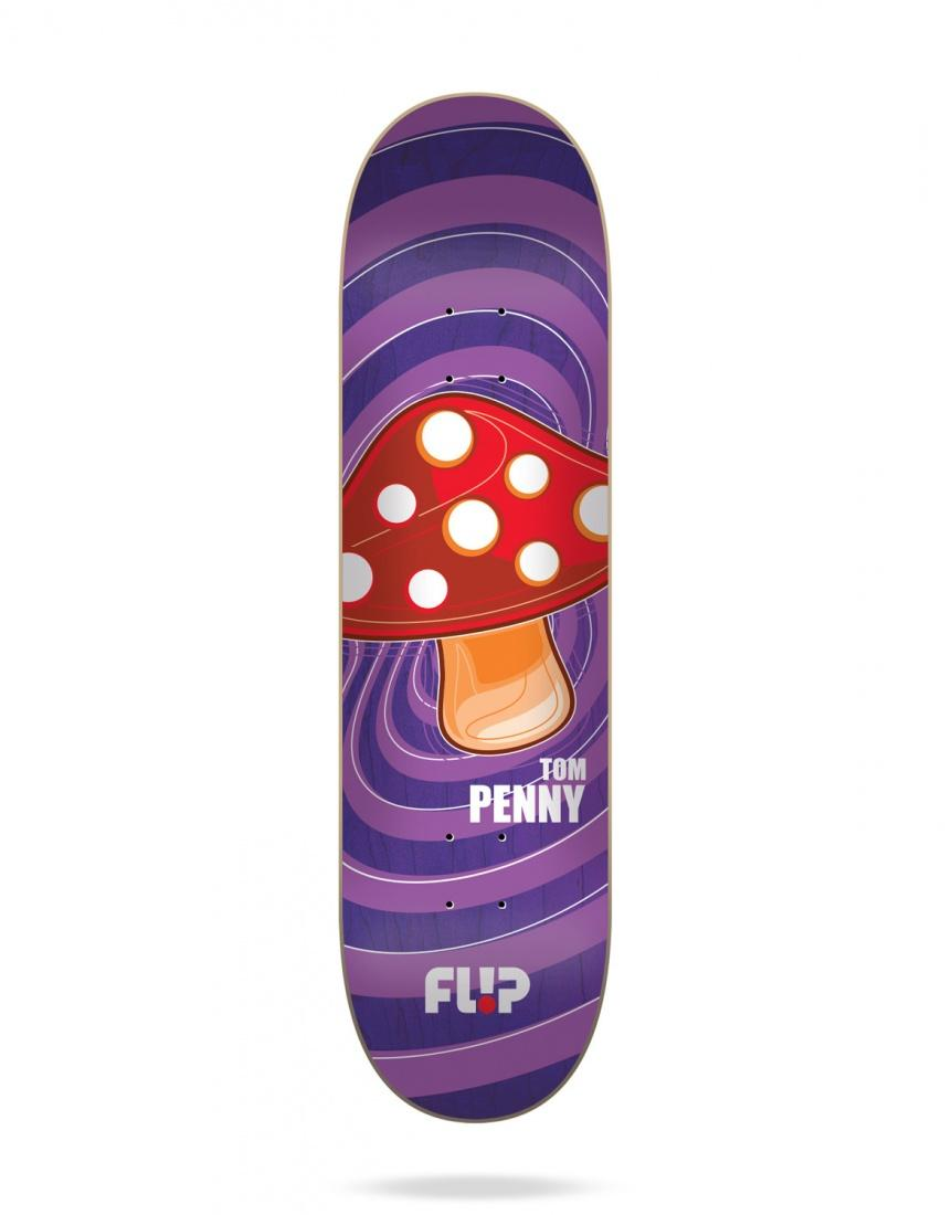 Flip Дека для скейтборда Flip Penny Popshroom Purple Assorted 8.0 подвески для скейтборда 2шт penny trucks purple 3 125 14 9 см