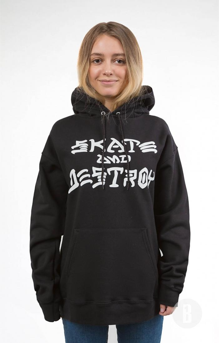THRASHER Толстовка Thrasher Skate and Destroy Black XL кенгуру picture organic basement skate black