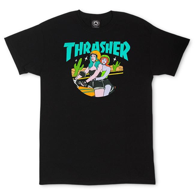 THRASHER Футболка Thrasher Babes T-Shirt Black M thrasher бейсболка thrasher skategoat mesh black grey