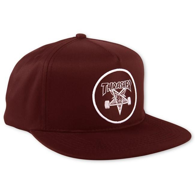 THRASHER Бейсболка Thrasher Skate Goat Maroon thrasher бейсболка thrasher skategoat mesh black grey