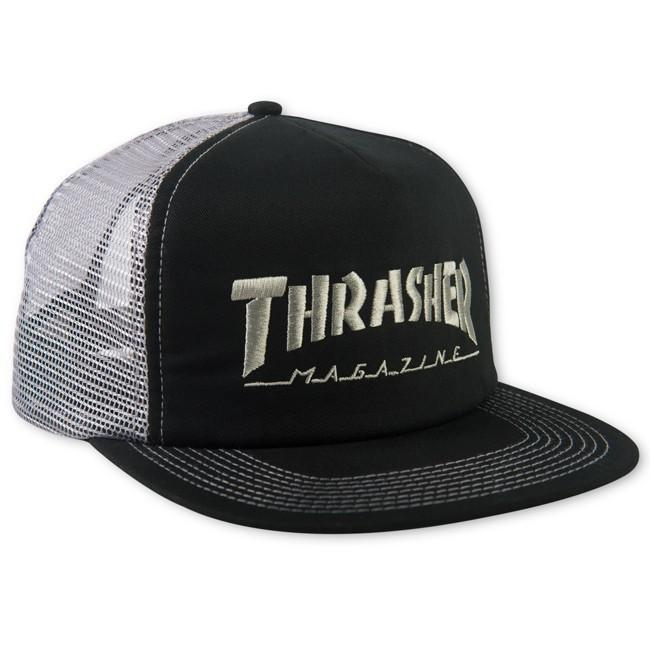 THRASHER Бейсболка Thrasher Logo Mesh Cap Black/Grey thrasher бейсболка thrasher skategoat mesh black grey