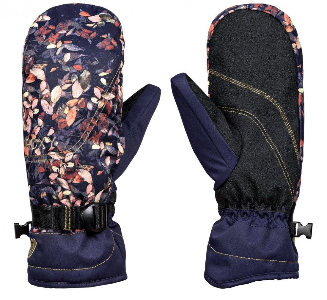 Roxy Варежки Roxy Jetty Mitt PEACOAT_WATERLEAF S варежки сноубордические женские roxy rx jetty mitt madison flowers true