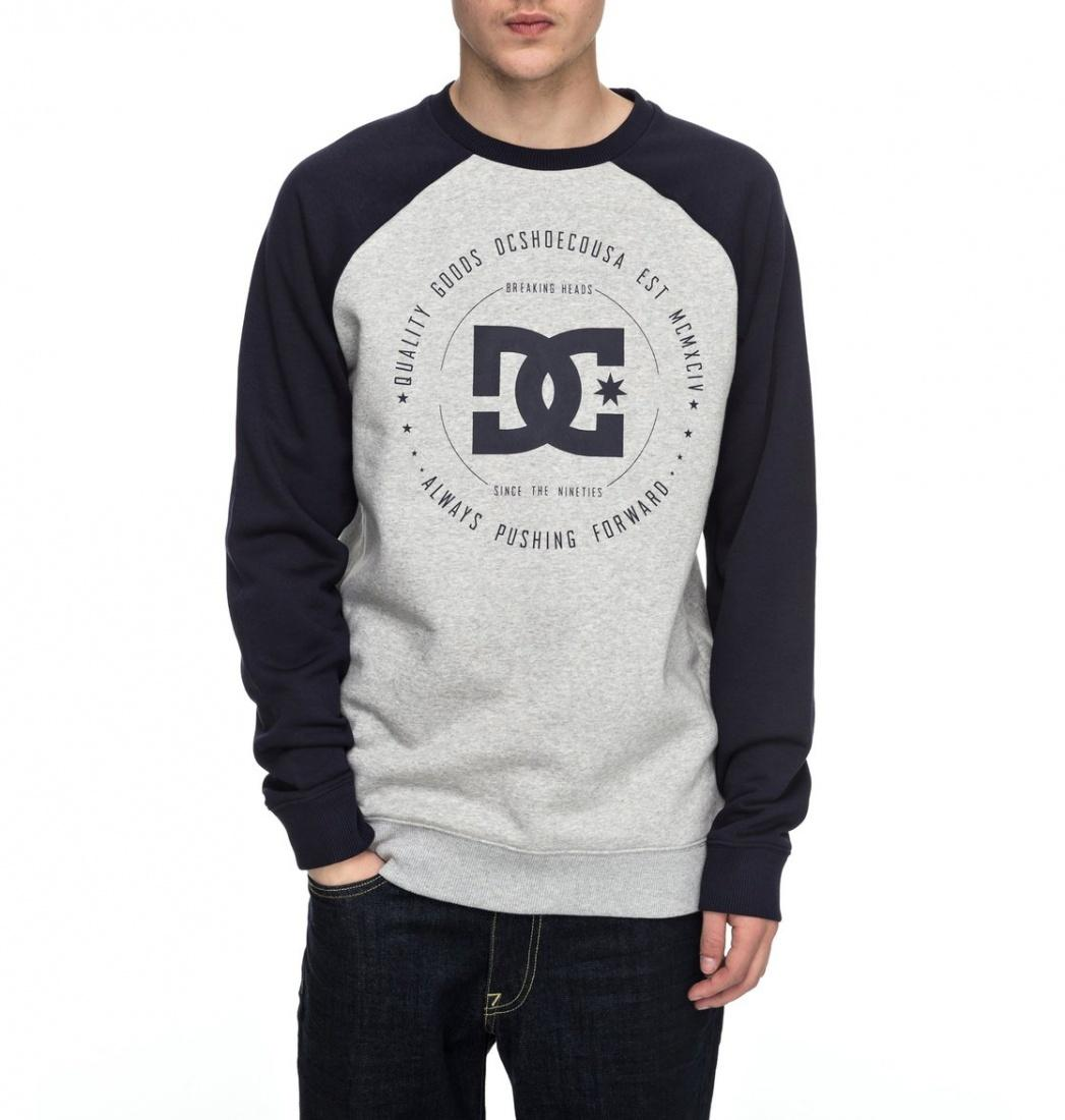 DC SHOES Свитшот DC shoes Rebuilt Raglan GREY HEATHER, , FW17 XL dc shoes кеды dc heathrow se 11