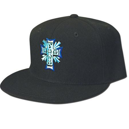 Кепка Cross Logo Color Embroidered Snapback Черная