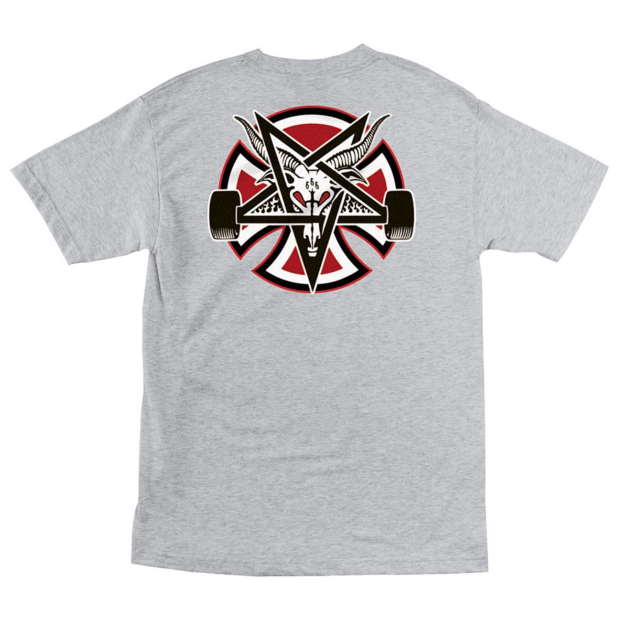 Футболка м Independent x Thrasher Pentagram Cross S/S Regular Серый