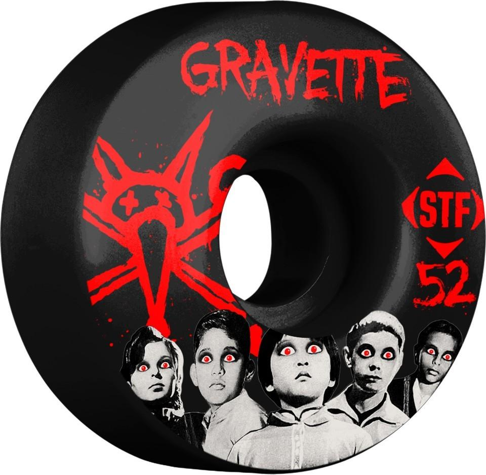 Колеса для скейтборда Bones Gravette Seed V3 Black 52 мм