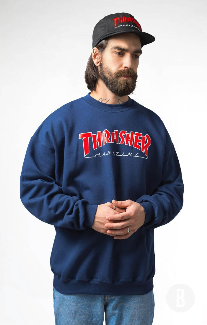 Толстовка Outlined Crewneck Синий