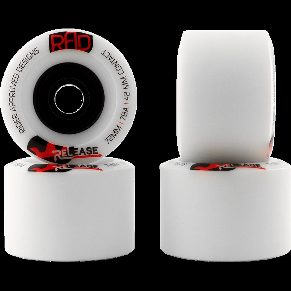 Колеса для лонгборда RAD RELEASE white 72мм 78A