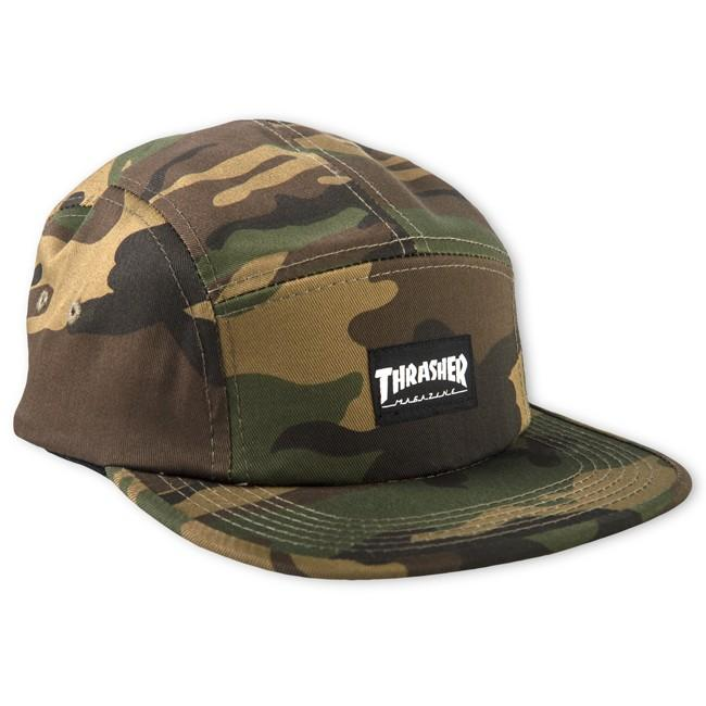 Бейсболка THRASHER 5-PANEL CAP Black
