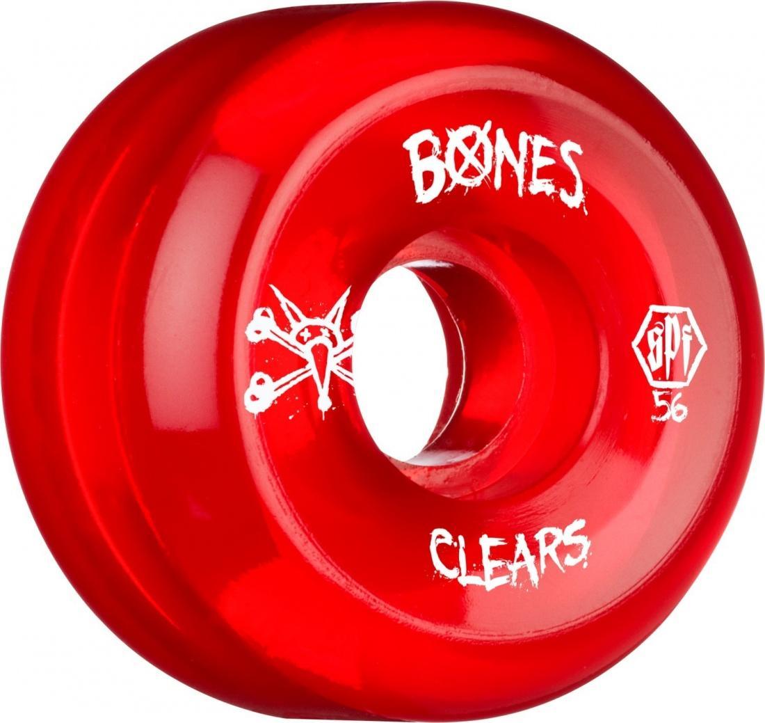 Колеса для скейтборда Bones SKATEPARK CLEAR RED 60 мм