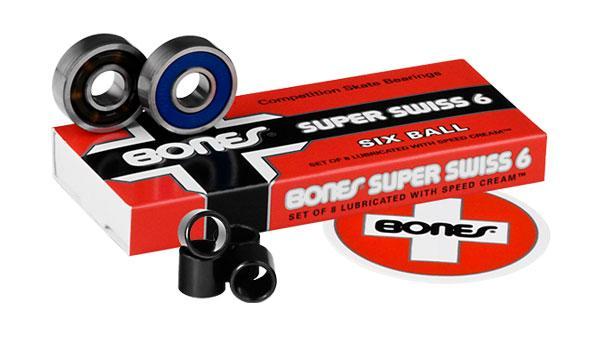Подшипники для скейтборда Bones Super Swiss 8mm 8 Packs  8мм