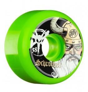 Колеса для скейтборда Bones Schroeder Odin Green 58 мм