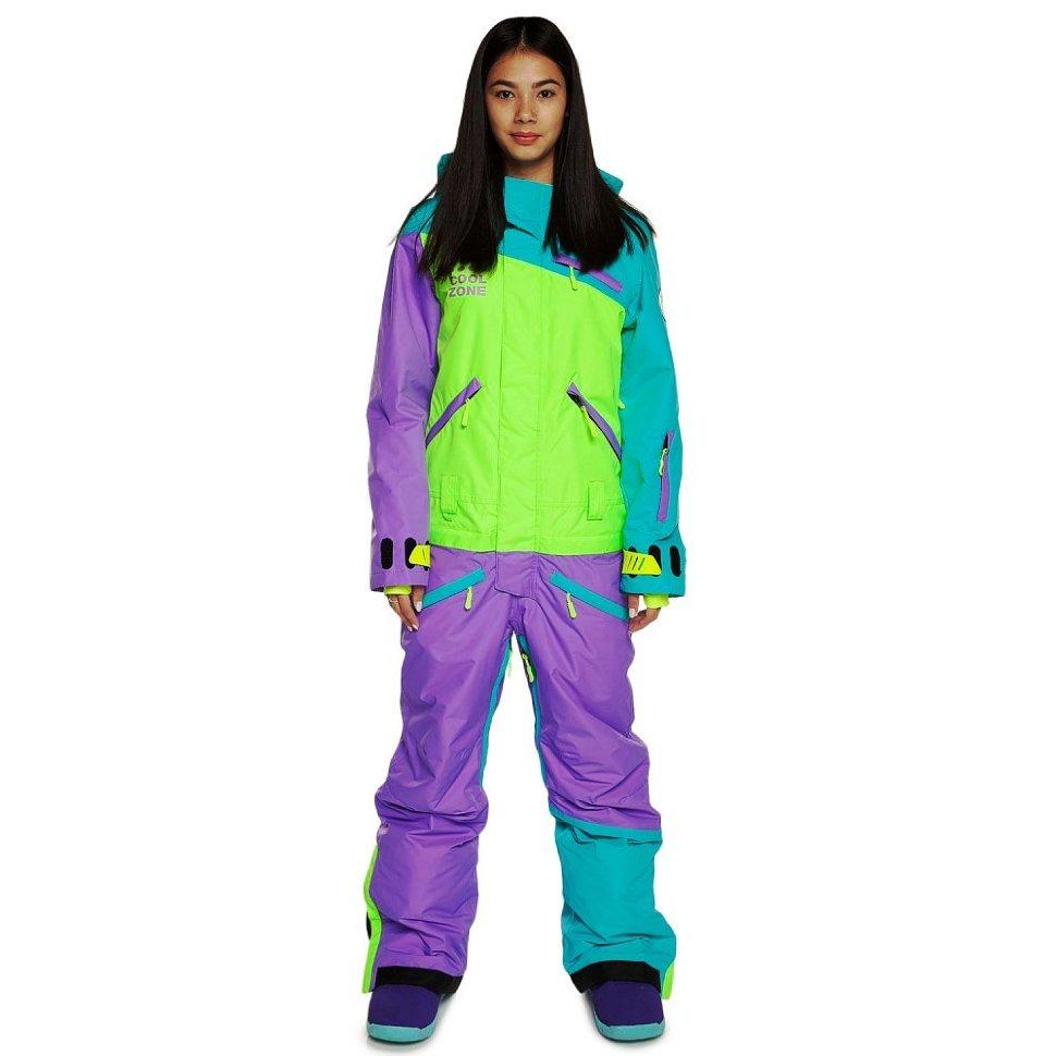 Сноубордический комбинезон Cool Zone 18 Mix 3512/14 Бирюза-лайм-светло фиолет M