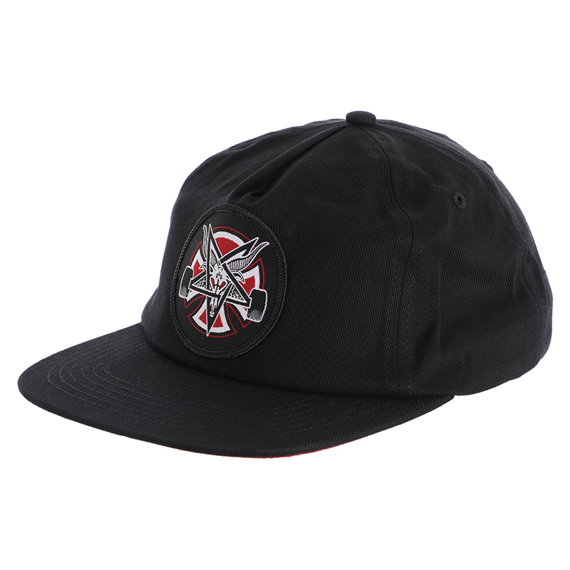 Бейсболка Independent x Thrasher Pentagram Cross Adjustable Snapback Hat Черная
