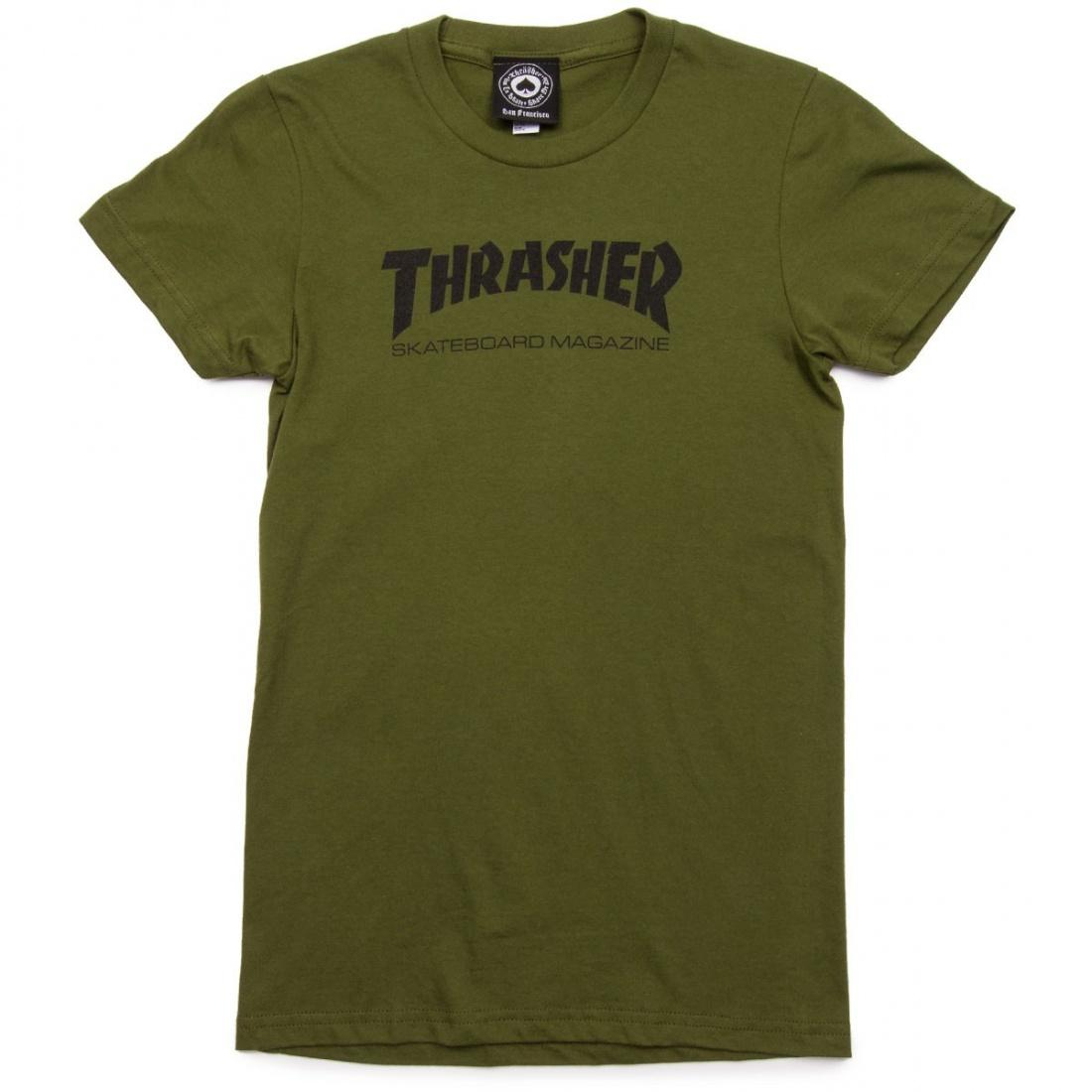 Футболка Girls Thrasher Mag Logo Short Sleeve Зеленая