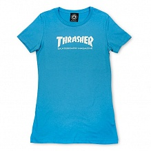 Футболка Girls Thrasher Mag Logo Short Sleeve Голубая